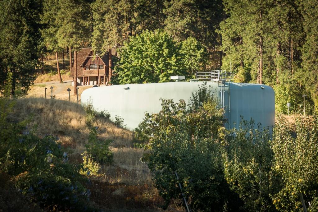 Water tank near Ski Hill